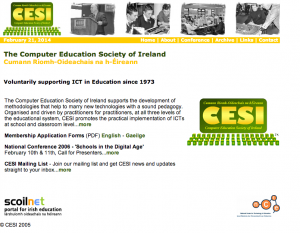CESI Website 2006 - click to enlarge